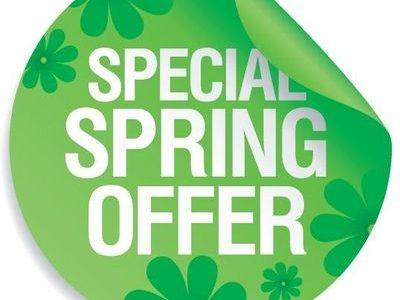 Spring special offer